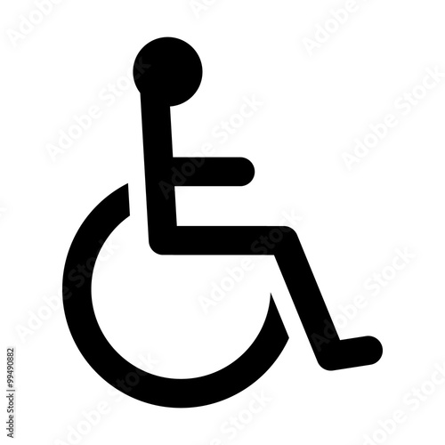 Wheelchair Handicapped Access Sign Or Symbol Flat Icon For