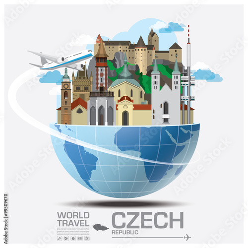 Photo  Czech Landmark Global Travel And Journey Infographic