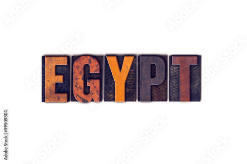 In de dag Midden Oosten Egypt Concept Isolated Letterpress Type