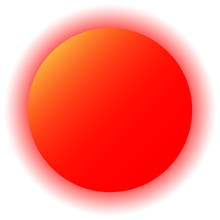 Red Sun On White Background