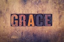 Grace Concept Wooden Letterpress Type