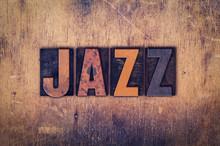 Jazz  Concept Wooden Letterpre...