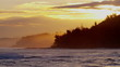 Hawaii sunrise Pacific Island ocean coast surf wave