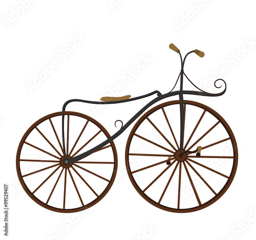 Photo sur Toile Velo Restored vintage bicycle . Vector illustration.