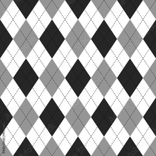 Tapeta ścienna na wymiar Deseń w czarno białe romby