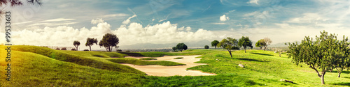 Photo Stands Golf golf field landscape