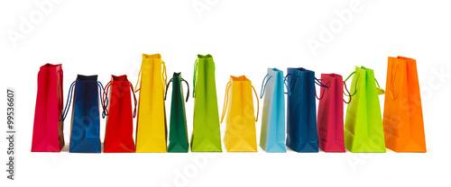 Fotografía  many colorful shopping bags