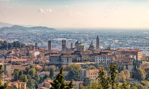 Canvas Print Bergamo in the fall