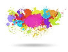 Multi Color Blots Background. ...