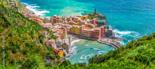 Spoed Foto op Canvas Liguria Town of Vernazza, Cinque Terre, Italy