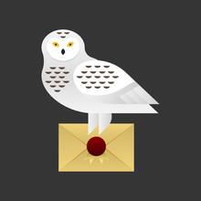 Vector Illustration Of Owl Hol...