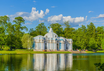 Grotto pavilion in Catherine park in pushkin near St.-Petersburg, Russia