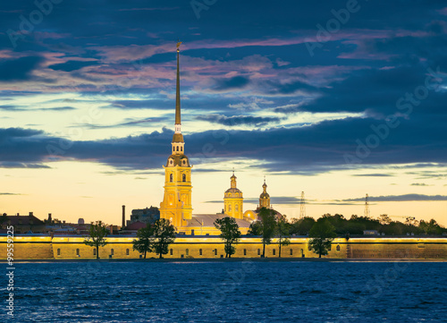 Photo  Peter and Paul Fortress and Cathedral. St.-Petersburg, Russia