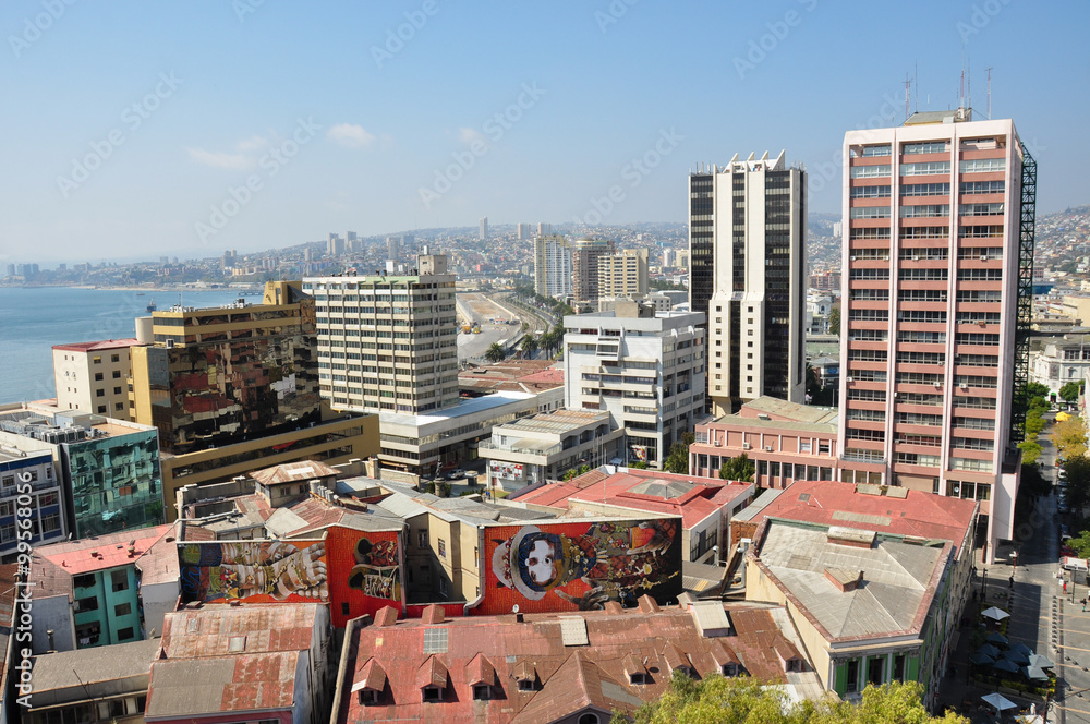 View over Valparaiso, in Chile