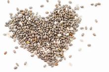 Chia Seeds Heart Shape.