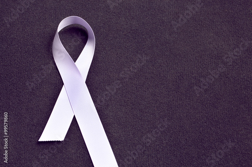 Fotografie, Obraz  Lavender color ribbon, symbolising awareness for all cancers
