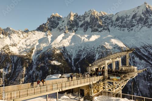 Foto auf AluDibond Arktis French Alpes mountains in Chamonix, France
