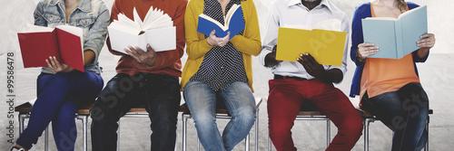 Pinturas sobre lienzo  Diversity People Reading Book Inspiration Concept