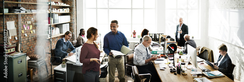 Fotomural Business Team Working Office Worker Concept