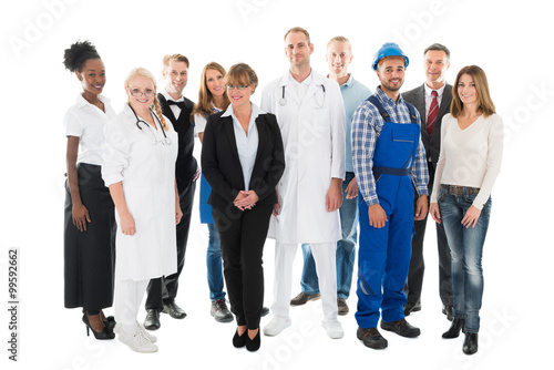 Fotografia  Group Portrait Of Confident People With Various Occupations