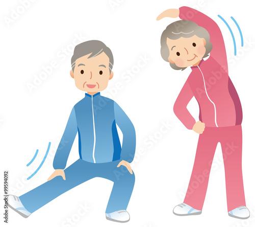体操する高齢者