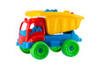 Colorful toy truck isolated on white