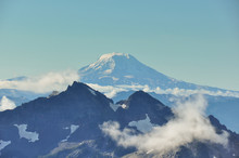 Paradise Trail In Mount Rainier National Park, Washington, USA