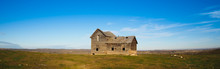 Old Homestead In Prairies, Alberta, Canada