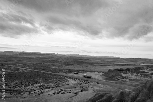 фотография Bardenas in black adn white