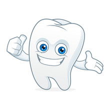 Tooth Cartoon Mascot Clean And...
