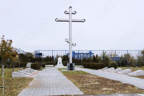Крест, братская могила 138 гвардейск Canvas-taulu