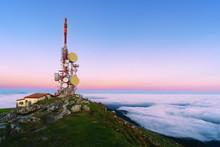 Telecommunications Tower On Oiz Mountain Top