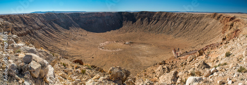 Canvastavla Meteor crater, Arizona