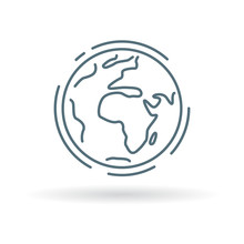 Planet Earth Icon. Planet Eart...
