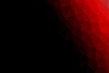 Black And Red Polygon For Background Design.