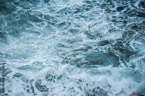 Stickers pour portes Eau Sea waves during a storm