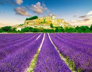 Fototapeta na wymiar Provence au coucher de soleil, Sud de la France