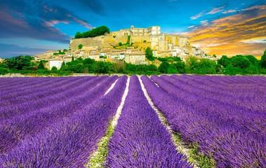 Obraz Provence au coucher de soleil, Sud de la France