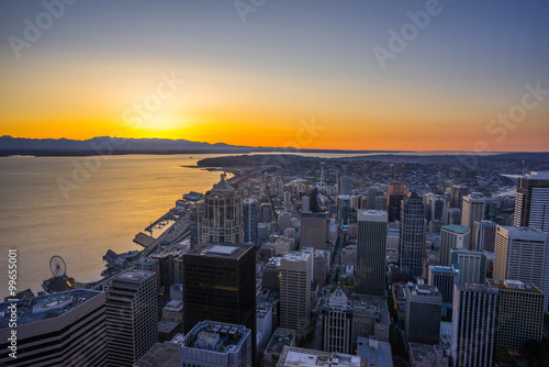 Seattle from Sky view Observatory, Columbia Center - Buy