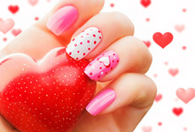 Valentine Day Holiday Nail Art...