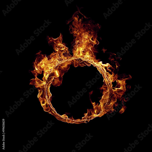 Door stickers Fire / Flame Ring of fire