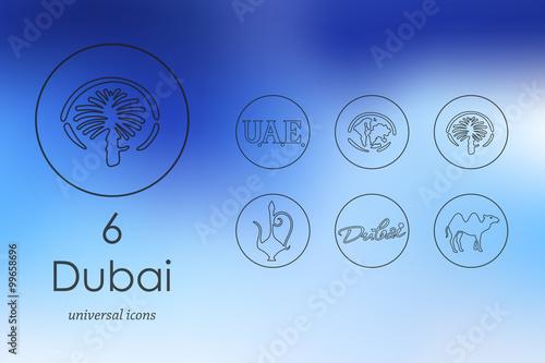 Photo  Set of Dubai icons