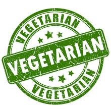 Vegetarian Rubber Stamp