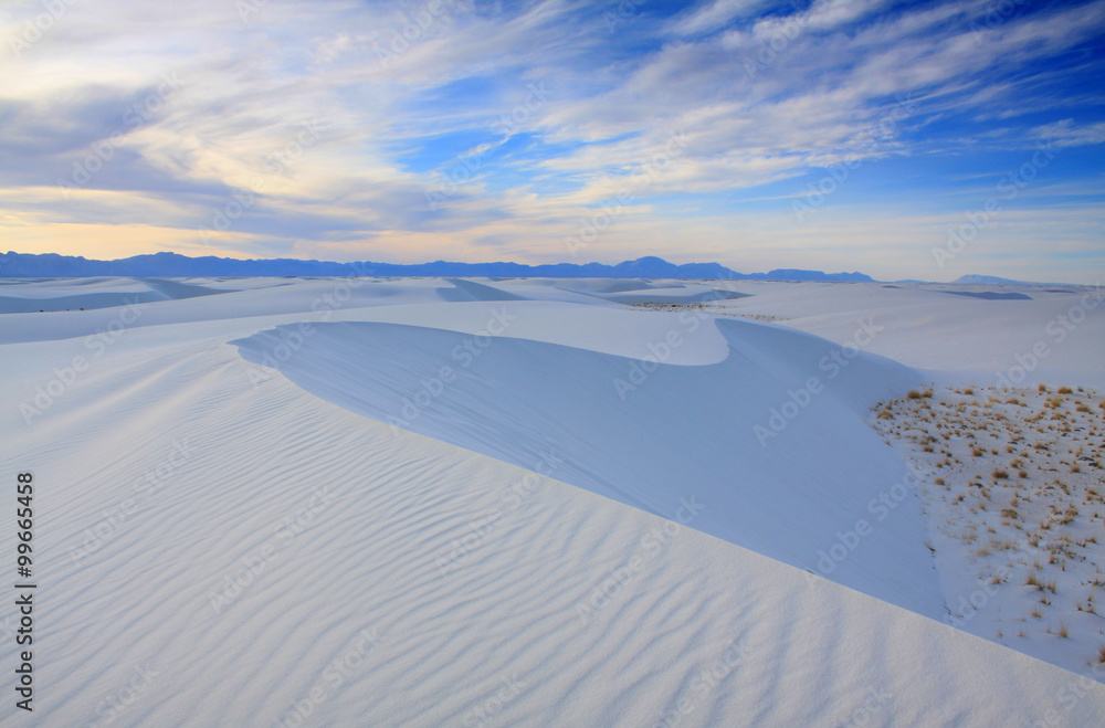 White Sands National Monument New Mexico.