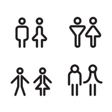 Toilet Icon Great For Any Use. Vector Illustration Symbol