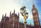 Fototapeta Big Ben - Big Ben and the houses of parliament in London