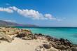 A beautiful beach on a Greek island in summer