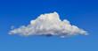 Leinwandbild Motiv white cloud and blue sky