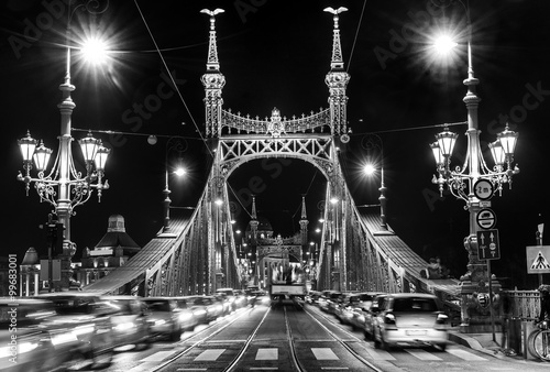 Fotografering  Budapest, Liberty Bridge, Hungary