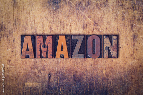 Valokuva  Amazon Concept Wooden Letterpress Type